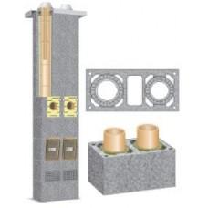 Schiedel dvigubas kaminas su ventiliacija